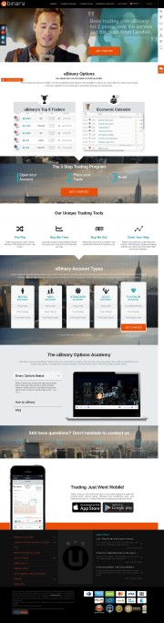 uBinary (Inactive) Home Page Screenshot