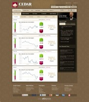 Cedar Finance (Closed) Home Page Screenshot