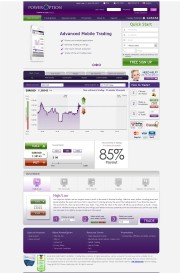 PowerOption Home Page Screenshot
