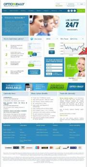 OptionRally (Inactive) Home Page Screenshot