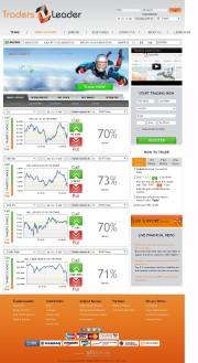 TradersLeader Home Page Screenshot