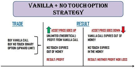 Vanilla + No-Touch Option Strategy