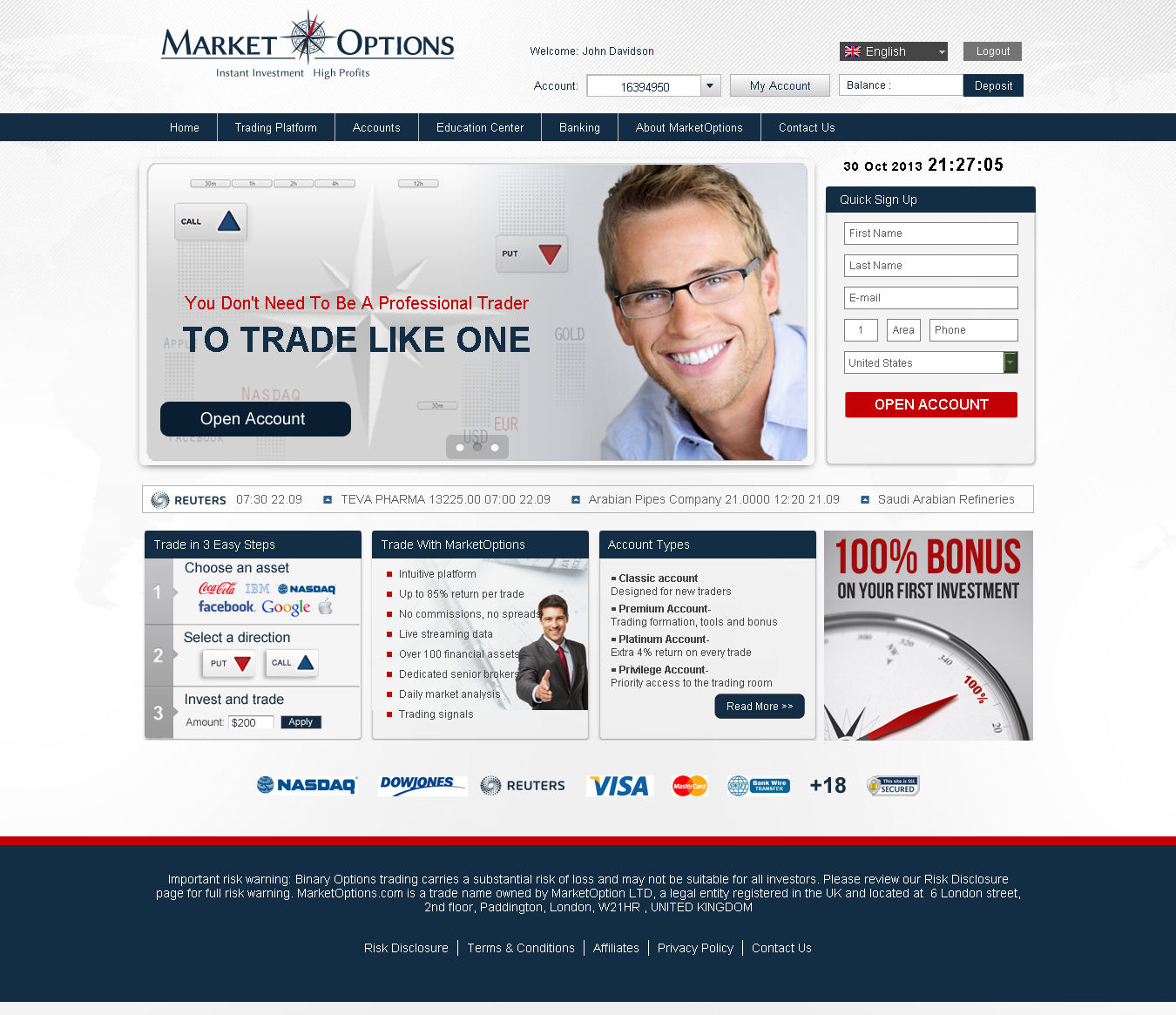 Global option trading reviews