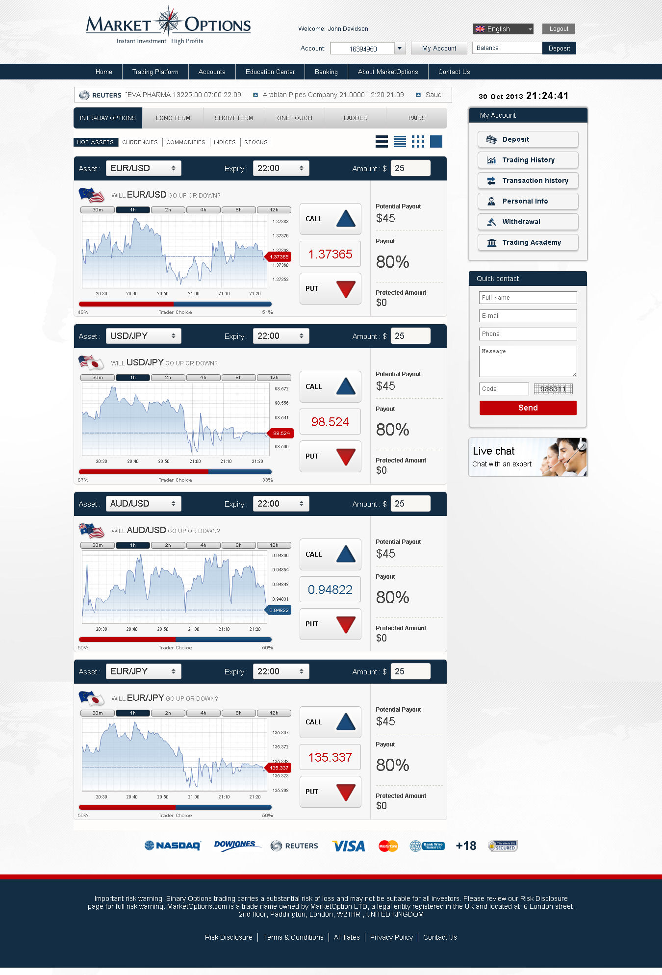 Binary options questions and answers