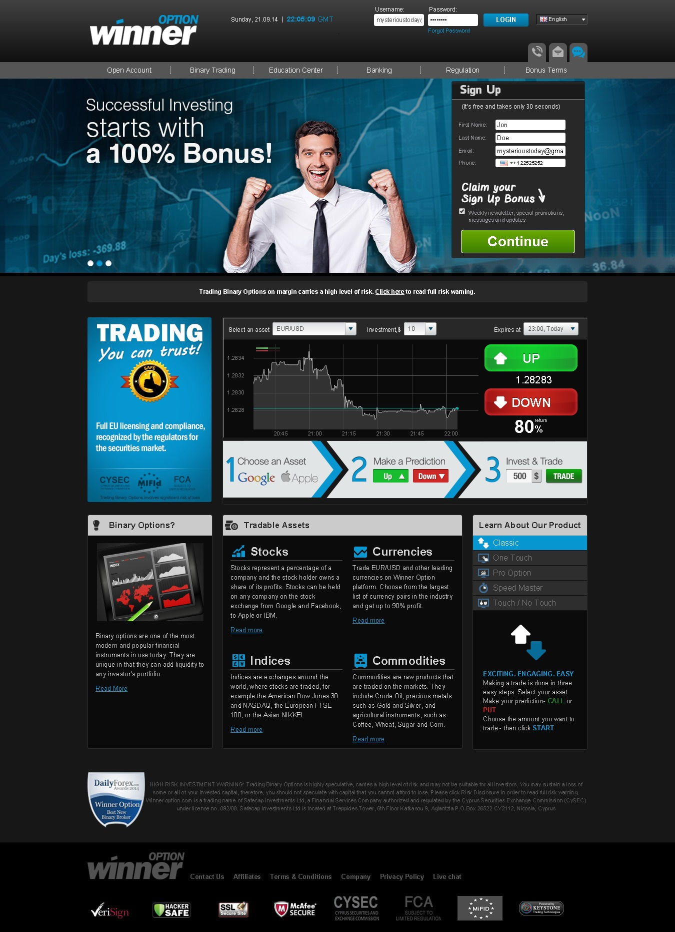 Binary options positive feedback