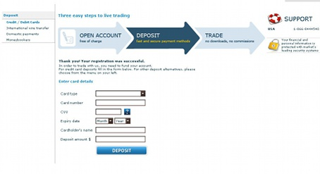 Step 3 - Deposit with anyoption
