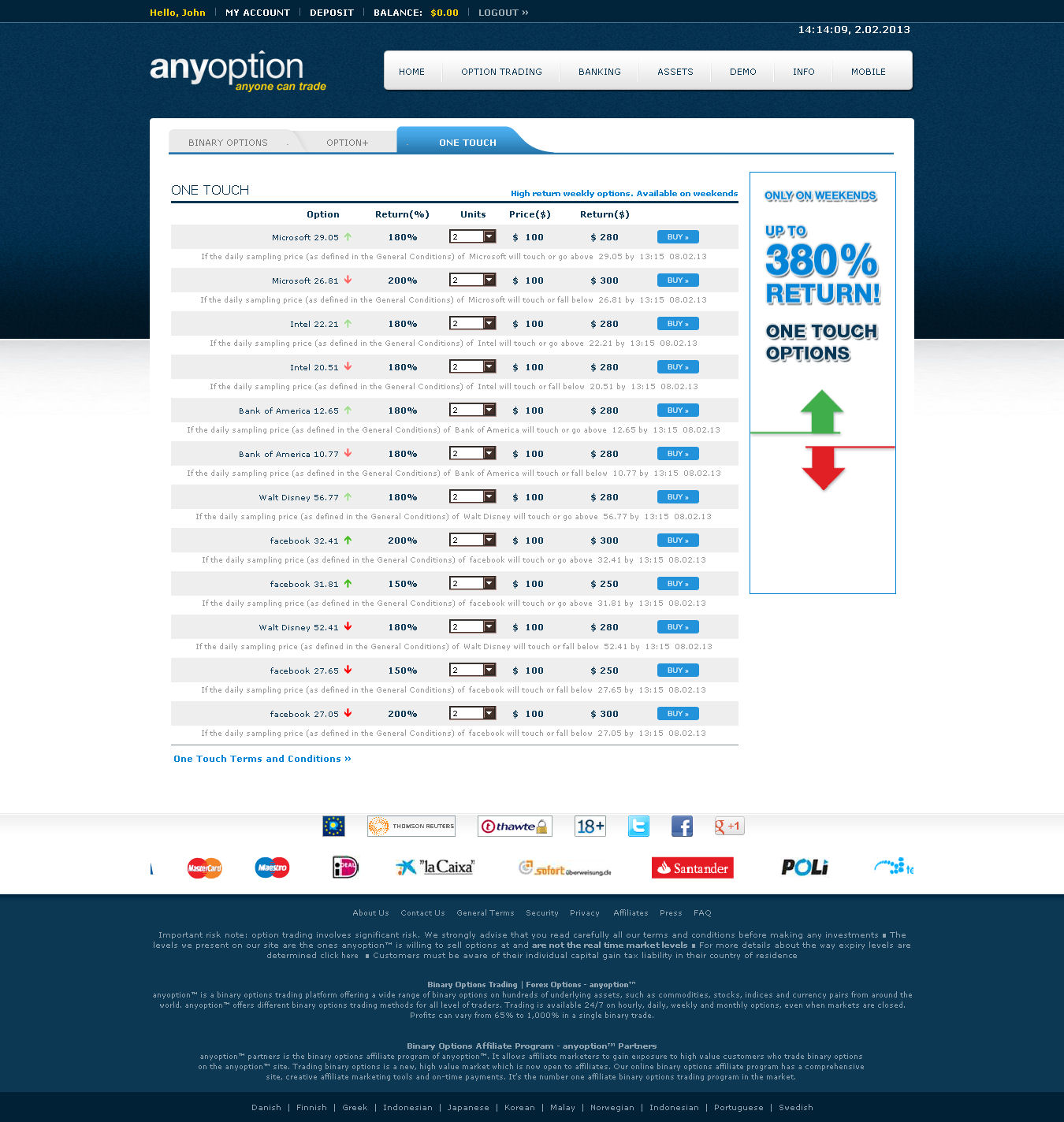My binary options