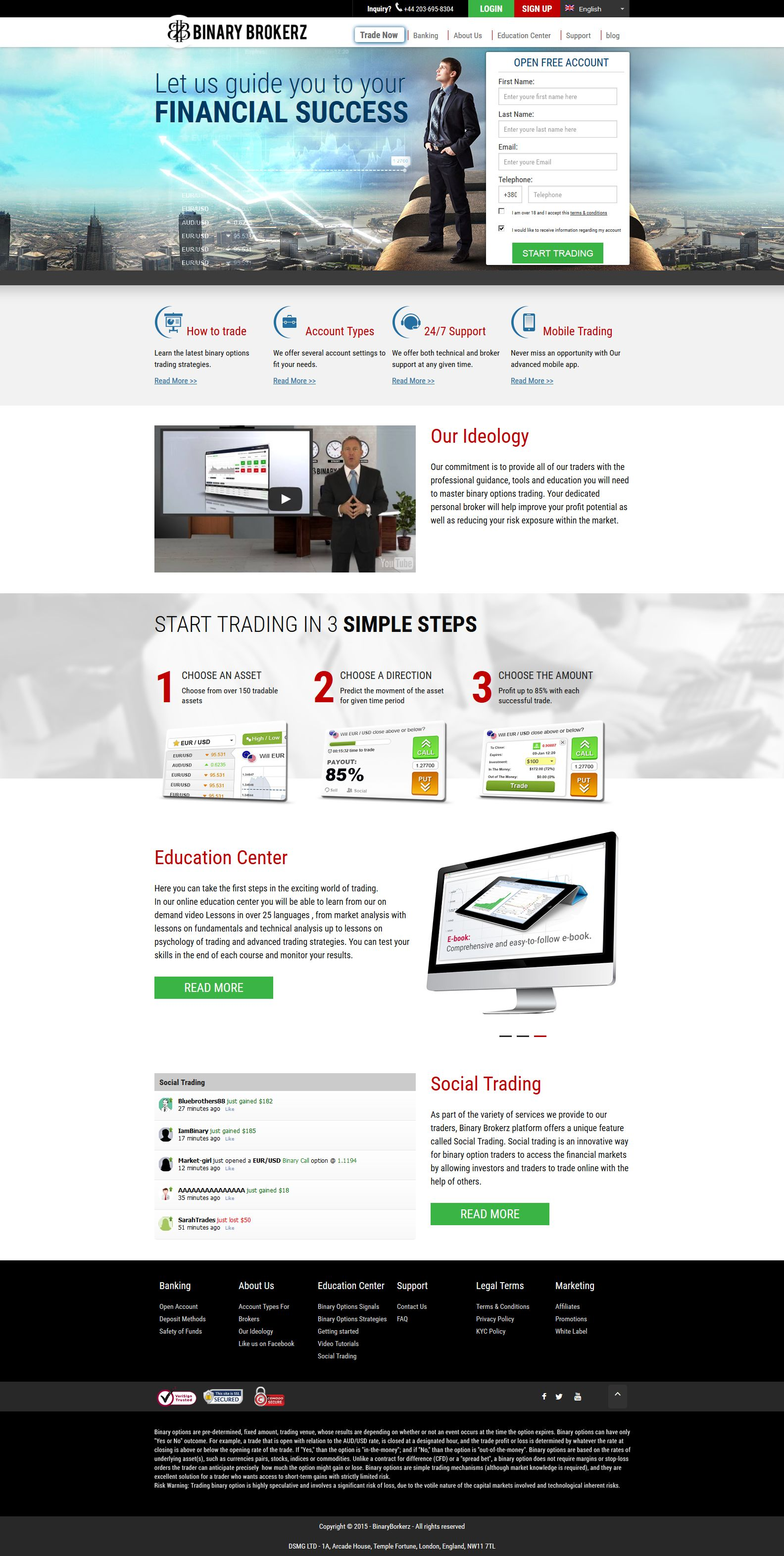 binary options or forex trading