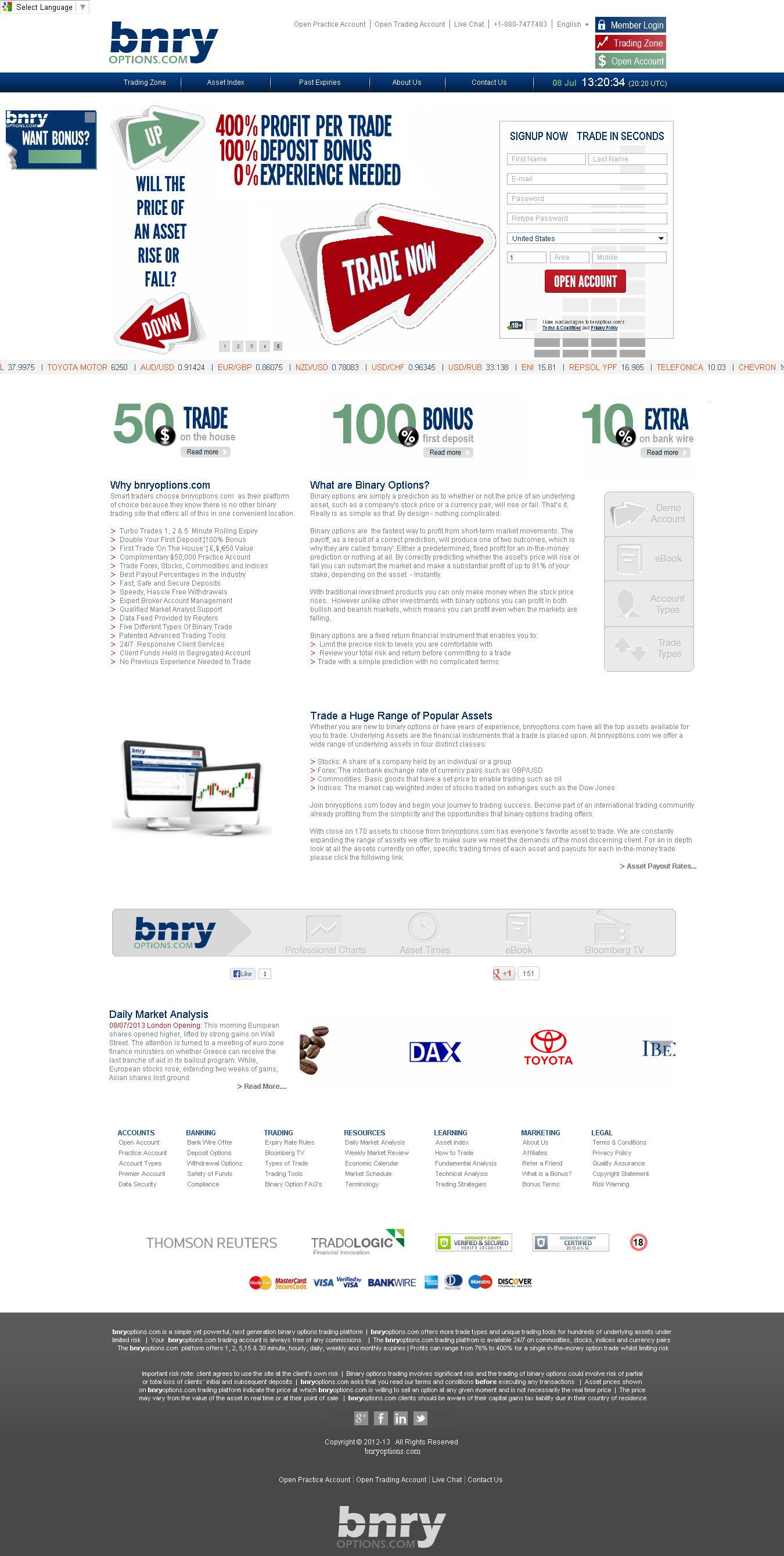 Binary option websites