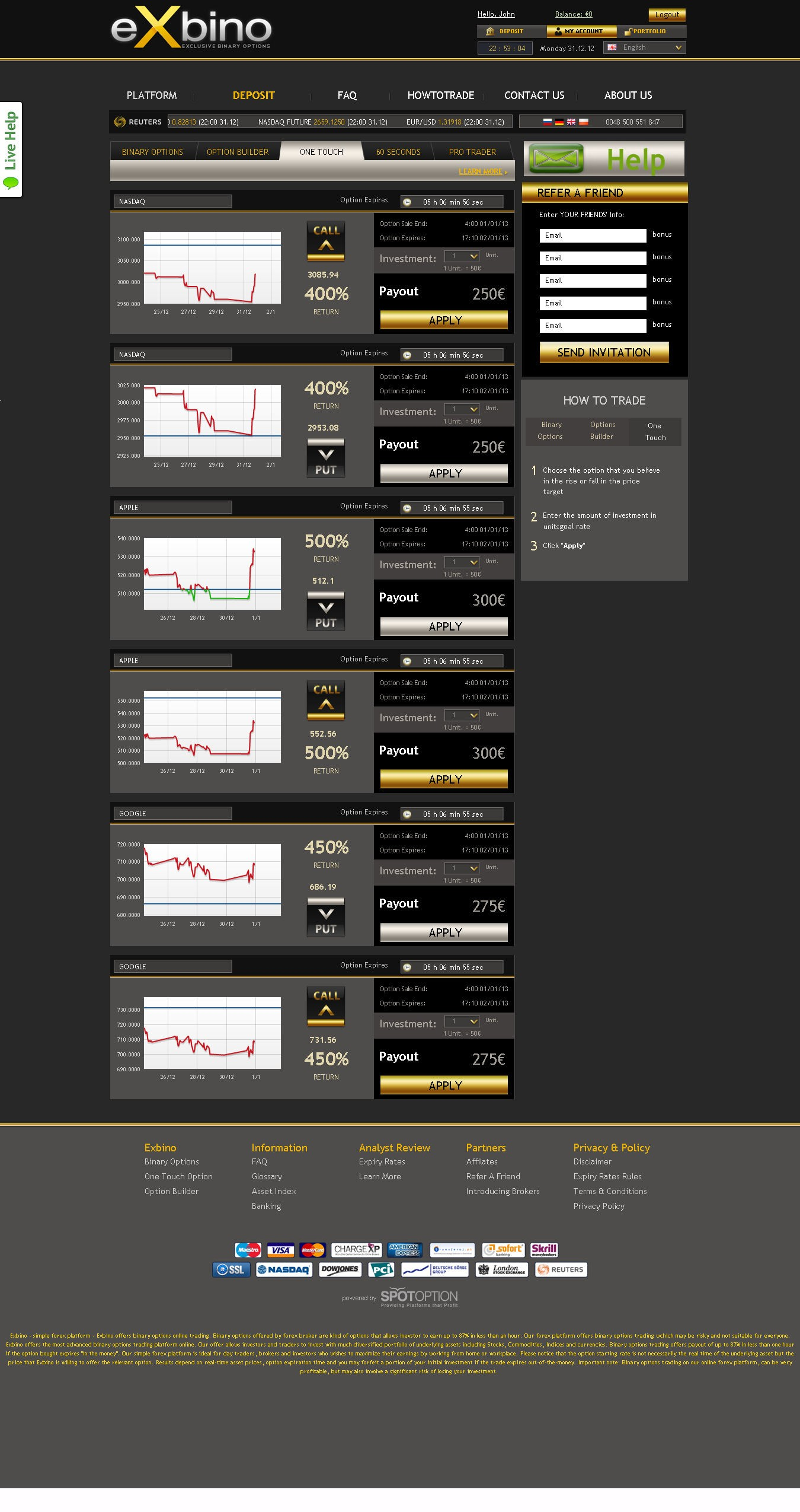 Exbino review is the best binary options trading platform