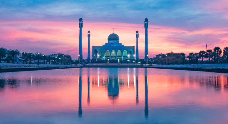 Mosque View - Binary Options and Islam